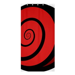 Double Spiral Thick Lines Black Red Shower Curtain 36  X 72  (stall)  by Mariart