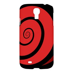 Double Spiral Thick Lines Black Red Samsung Galaxy S4 I9500/i9505 Hardshell Case by Mariart