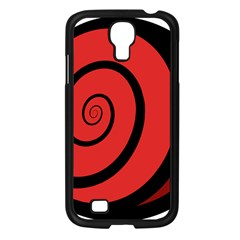 Double Spiral Thick Lines Black Red Samsung Galaxy S4 I9500/ I9505 Case (black) by Mariart
