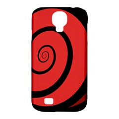 Double Spiral Thick Lines Black Red Samsung Galaxy S4 Classic Hardshell Case (pc+silicone) by Mariart