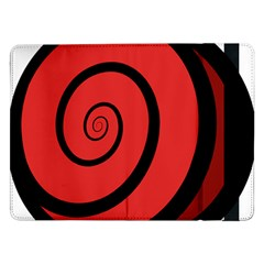 Double Spiral Thick Lines Black Red Samsung Galaxy Tab Pro 12 2  Flip Case