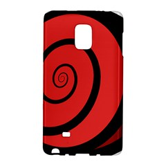 Double Spiral Thick Lines Black Red Galaxy Note Edge by Mariart
