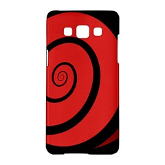 Double Spiral Thick Lines Black Red Samsung Galaxy A5 Hardshell Case  by Mariart