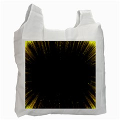 Colorful Light Ray Border Animation Loop Yellow Recycle Bag (one Side) by Mariart