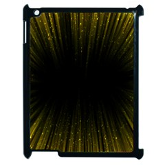Colorful Light Ray Border Animation Loop Yellow Apple Ipad 2 Case (black) by Mariart