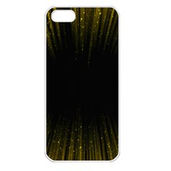Colorful Light Ray Border Animation Loop Yellow Apple Iphone 5 Seamless Case (white) by Mariart