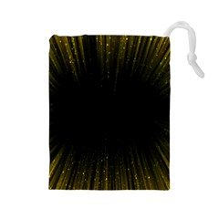 Colorful Light Ray Border Animation Loop Yellow Drawstring Pouches (large)  by Mariart