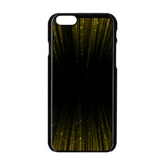 Colorful Light Ray Border Animation Loop Yellow Apple Iphone 6/6s Black Enamel Case by Mariart