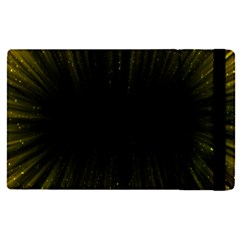 Colorful Light Ray Border Animation Loop Yellow Apple Ipad Pro 12 9   Flip Case by Mariart