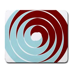 Double Spiral Thick Lines Blue Red Large Mousepads by Mariart