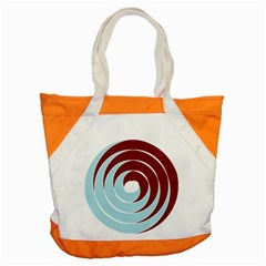 Double Spiral Thick Lines Blue Red Accent Tote Bag