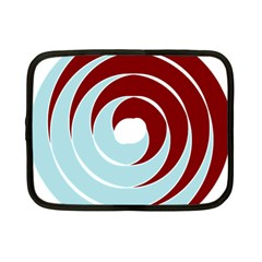 Double Spiral Thick Lines Blue Red Netbook Case (small)  by Mariart