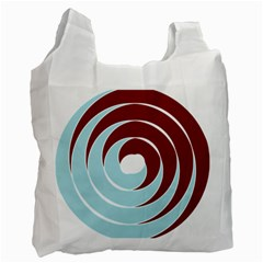 Double Spiral Thick Lines Blue Red Recycle Bag (one Side) by Mariart