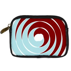 Double Spiral Thick Lines Blue Red Digital Camera Cases