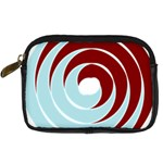 Double Spiral Thick Lines Blue Red Digital Camera Cases Front