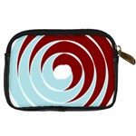 Double Spiral Thick Lines Blue Red Digital Camera Cases Back