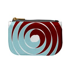 Double Spiral Thick Lines Blue Red Mini Coin Purses by Mariart