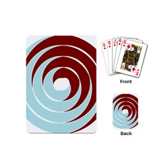 Double Spiral Thick Lines Blue Red Playing Cards (mini)  by Mariart