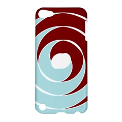 Double Spiral Thick Lines Blue Red Apple Ipod Touch 5 Hardshell Case by Mariart