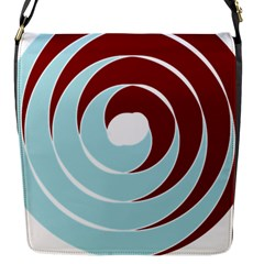 Double Spiral Thick Lines Blue Red Flap Messenger Bag (s) by Mariart