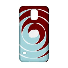Double Spiral Thick Lines Blue Red Samsung Galaxy S5 Hardshell Case  by Mariart