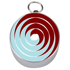 Double Spiral Thick Lines Blue Red Silver Compasses by Mariart