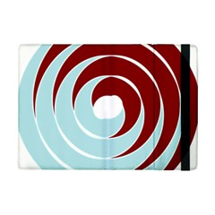 Double Spiral Thick Lines Blue Red Ipad Mini 2 Flip Cases by Mariart