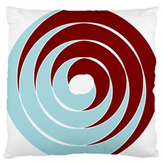Double Spiral Thick Lines Blue Red Standard Flano Cushion Case (one Side) by Mariart