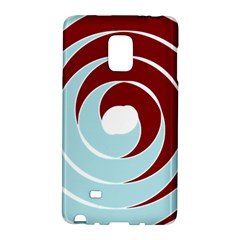 Double Spiral Thick Lines Blue Red Galaxy Note Edge by Mariart