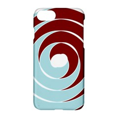 Double Spiral Thick Lines Blue Red Apple Iphone 7 Hardshell Case by Mariart