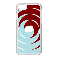 Double Spiral Thick Lines Blue Red Apple Iphone 7 Seamless Case (white) by Mariart