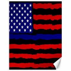 Flag American Line Star Red Blue White Black Beauty Canvas 12  X 16   by Mariart