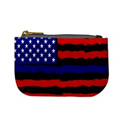 Flag American Line Star Red Blue White Black Beauty Mini Coin Purses