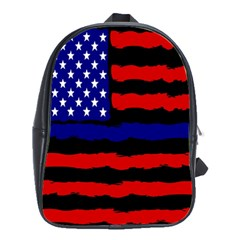 Flag American Line Star Red Blue White Black Beauty School Bag (large)