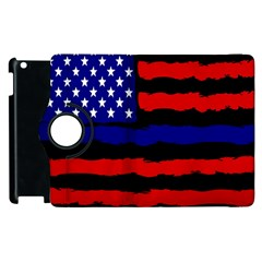 Flag American Line Star Red Blue White Black Beauty Apple Ipad 2 Flip 360 Case by Mariart