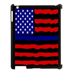 Flag American Line Star Red Blue White Black Beauty Apple Ipad 3/4 Case (black) by Mariart