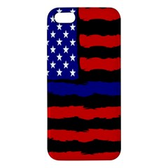 Flag American Line Star Red Blue White Black Beauty Apple Iphone 5 Premium Hardshell Case by Mariart