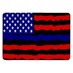 Flag American Line Star Red Blue White Black Beauty Samsung Galaxy Tab 8 9  P7300 Flip Case by Mariart