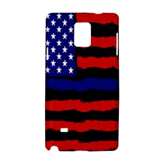 Flag American Line Star Red Blue White Black Beauty Samsung Galaxy Note 4 Hardshell Case by Mariart