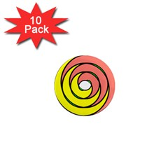 Double Spiral Thick Lines Circle 1  Mini Magnet (10 Pack)  by Mariart