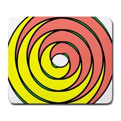 Double Spiral Thick Lines Circle Large Mousepads by Mariart