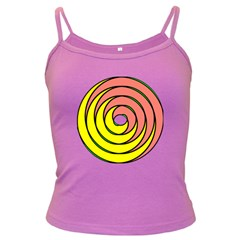 Double Spiral Thick Lines Circle Dark Spaghetti Tank