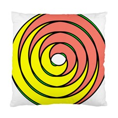 Double Spiral Thick Lines Circle Standard Cushion Case (two Sides) by Mariart