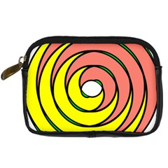 Double Spiral Thick Lines Circle Digital Camera Cases by Mariart