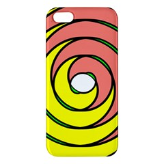 Double Spiral Thick Lines Circle Apple Iphone 5 Premium Hardshell Case by Mariart
