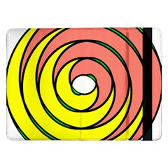 Double Spiral Thick Lines Circle Samsung Galaxy Tab Pro 12 2  Flip Case by Mariart