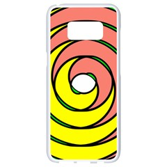 Double Spiral Thick Lines Circle Samsung Galaxy S8 White Seamless Case by Mariart