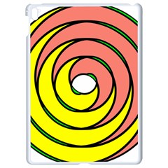 Double Spiral Thick Lines Circle Apple Ipad Pro 9 7   White Seamless Case