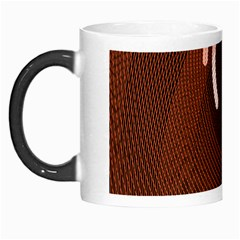 Fan Line Chevron Wave Brown Morph Mugs by Mariart