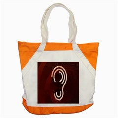 Fan Line Chevron Wave Brown Accent Tote Bag by Mariart